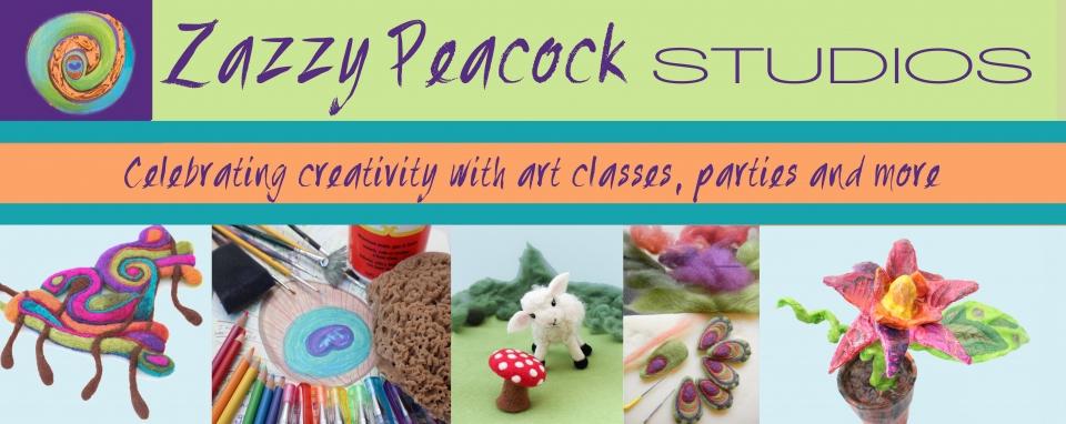 Zazzy Peacock Studios Banner