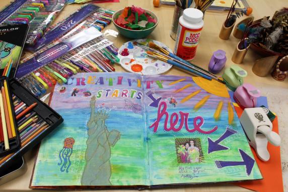 Art Journal and Art Supplies