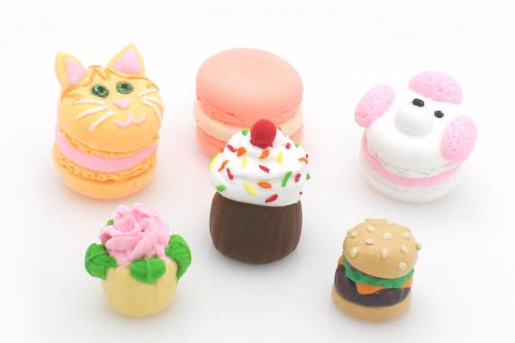 Sculpted Clay Foods, Macarons, Cupcakes, Cheeseburger