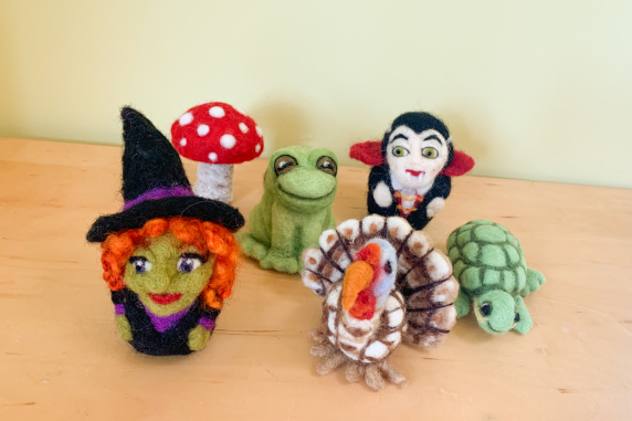 Frog, Mushroom, Witch, Vampire, Turkey, Turtle