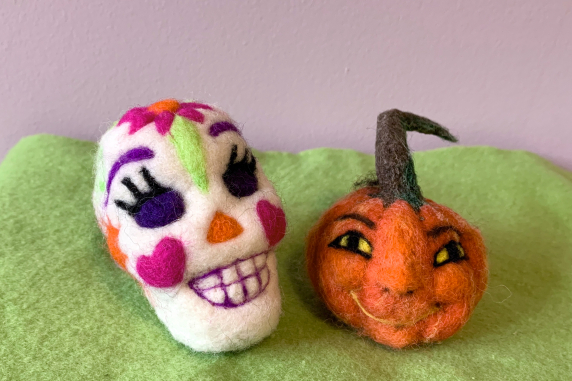 Sugar Skull and Jack-o'lantern