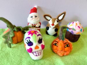 Cupcake, Pumpkin, Sugar Skull, Santa and more