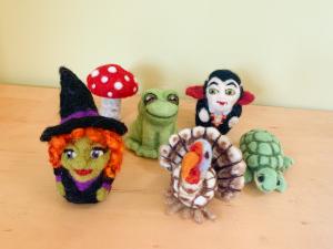 Frog, Mushroom, Witch, Vampire, Turkey, Turtle