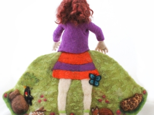 5 Going on 50, Needle Felted Flip Doll, 50 back view