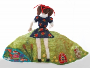 5 Going on 50, Needle Felted Flip Doll, 5 back view