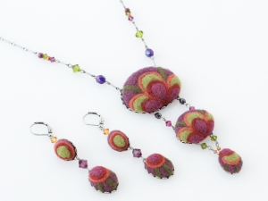 Petal Cascade Necklace and Earrings